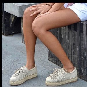 J/Slides Raoul Espadrille Nubuck Leather Sneakers